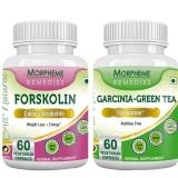 Morpheme Remedies Garcinia Cambogia Green Tea + Forskolin,  120 Capsules