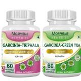 Morpheme Remedies Garcinia Cambogia Triphala + Garcinia Green Tea,  120 Capsules