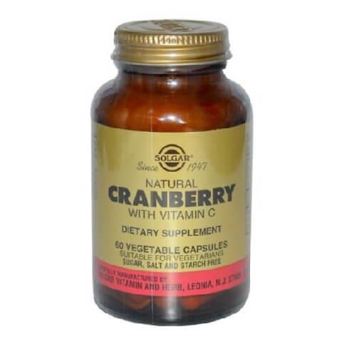 Solgar Natural Cranberry with Vitamin C,  60 veggie capsule(s)