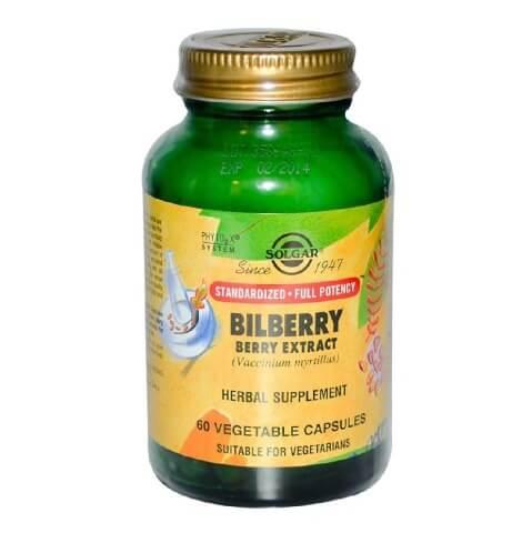Solgar Bilberry Berry Extract,  60 veggie capsule(s)