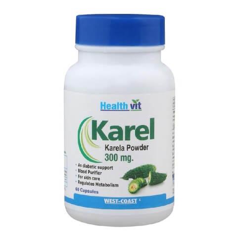 Healthvit Karela Powder,  60 capsules