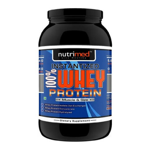 Nutrimed Instantized 100% Whey Protein,  1 lb  Chocolate
