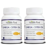Health First Omega 3 Fish Oil (Pack Of 2),  60 Capsules