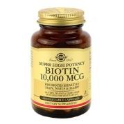 Solgar Super High Potency Biotin (10000 mcg),  60 veggie capsule(s)  Unflavoured