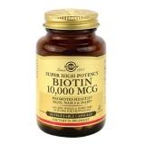 Solgar Super High Potency Biotin (10000 Mcg),  Unflavoured  60 Veggie Capsule(s)