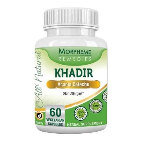 Morpheme Remedies Khadir (500 mg),  60 veggie capsule(s)