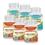 Morpheme Remedies Kohinoor Gold Plus & Safed Musli (Pack Of 6),  60 Capsules