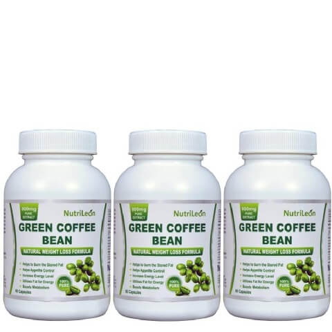 NutriLeon Green Coffee Bean (Pack of 3),  60 capsules