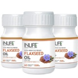 INLIFE Flaxseed Oil Omega 3,6,9 (Pack Of 3),  60 Capsules