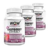 WOW Raspberry Ketones Plus Diet (Pack Of 3),  60 Capsules
