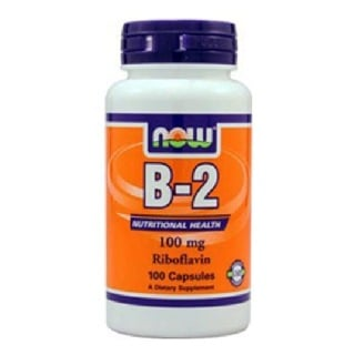 Now Vitamin B-2 Riboflavin (100 mg),  100 capsules  Unflavoured