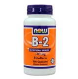 Now Vitamin B-2 Riboflavin (100 Mg),  Unflavoured  100 Capsules