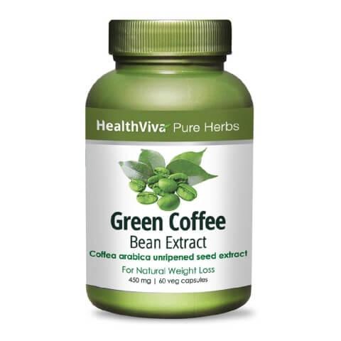 HealthViva Pure Herbs Green Coffee Extract,  60 capsules