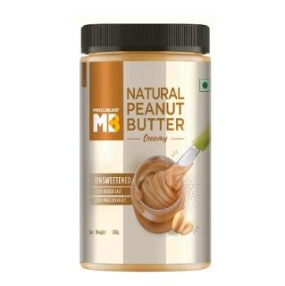 4 - MuscleBlaze Natural Peanut Butter Unsweetened,  0.750 kg  Creamy