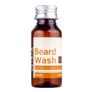 1 - Ustraa Beard Wash Woody,  60 ml  Cleanse Repair and Strengthens