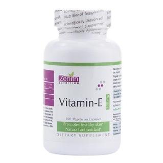 Zenith Nutrition Vitamin E,  100 capsules