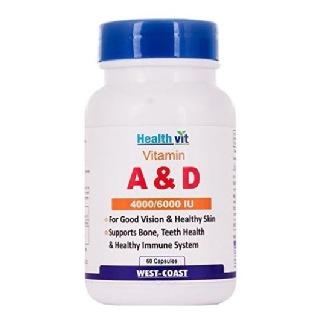 Healthvit Vitamin A & D (4000/6000 IU),  60 capsules