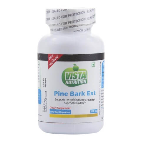 Vista Nutrition Pine Bark Ext (100mg),  100 veggie capsule(s)