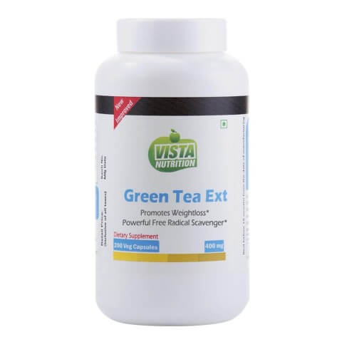 Vista Nutrition Green Tea Extract (400 mg),  200 capsules  Unflavoured
