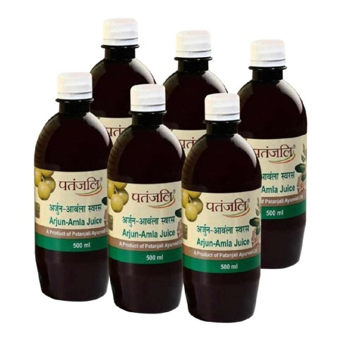 Patanjali Amla Juice - Pack of 6, Arjun 0.5 L