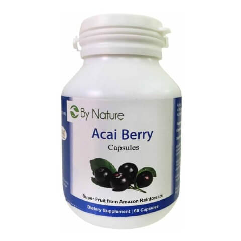 By Nature Acai Berry,  60 capsules  Unflavoured