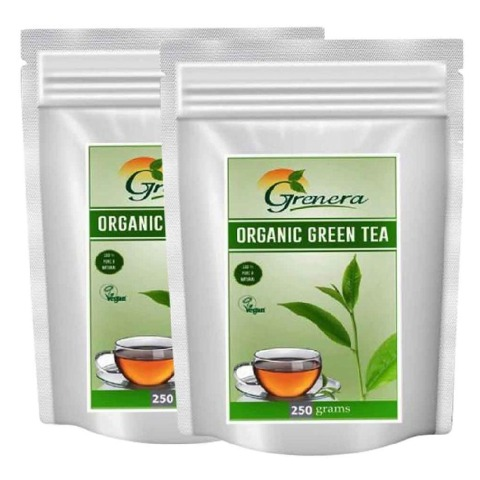 Grenera Organic Green Tea,  250 g  Natural  - Pack of 2