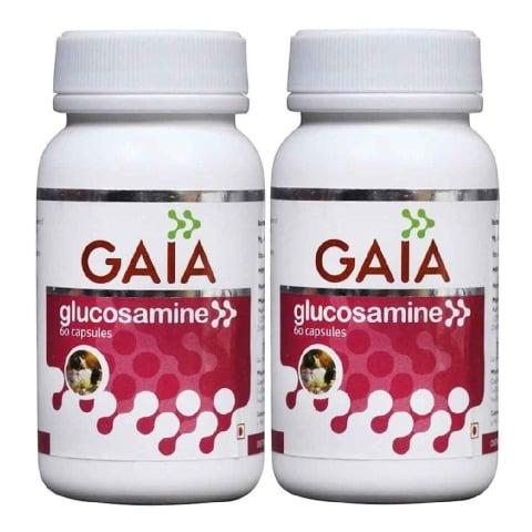 GAIA Glucosamine Capsules,  60 capsules  - Pack of 2