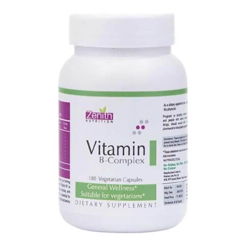 Zenith Nutrition Vitamin B-Complex,  Unflavoured  180 veggie capsule(s)