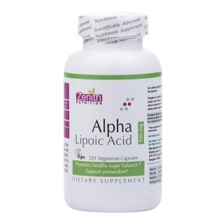 Zenith Nutrition Alpha Lipoic Acid -300Mg,  120 veggie capsule(s)