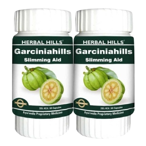 Herbal Hills Garcinia Hills - Pack of 2, 60 capsules