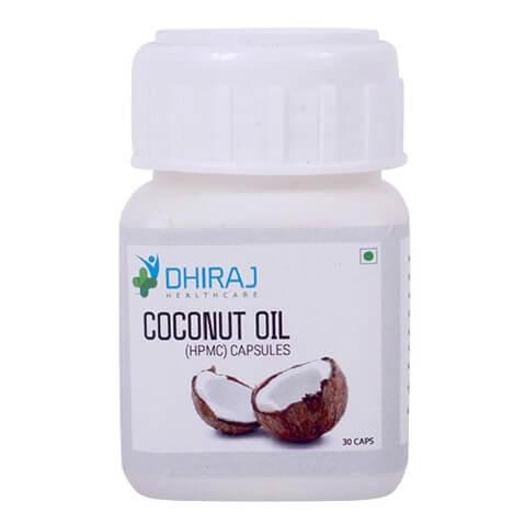 Dhiraj Coconut Oil Capsule,  30 capsules