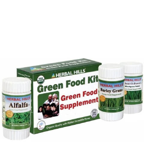 Herbal Hills Green Food Supplement Kit,  3 Piece(s)/Pack