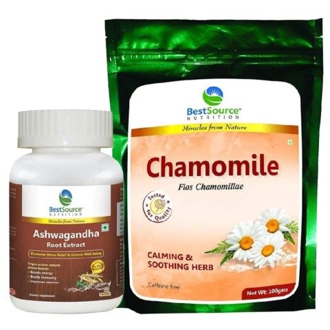 BestSource Nutrition For Anti-Stress- Ashwagandha + Chamomile