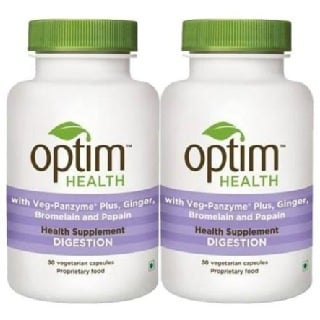OptimHealth Digestion Health Supplement,  30 capsules  - Pack of 2