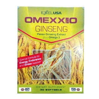 ExxelUSA Omexxel Ginseng,  30 softgels