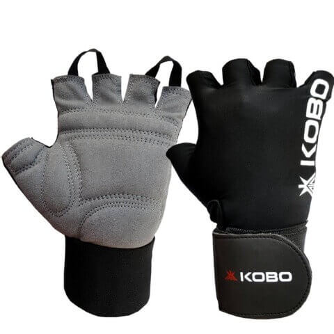 KOBO Weight Lifting Fitness Gym Gloves (WTG-09),  Black  Medium