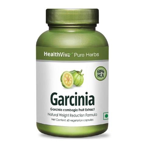 HealthViva Pure Herbs Garcinia Cambogia (60% HCA), 60 capsules