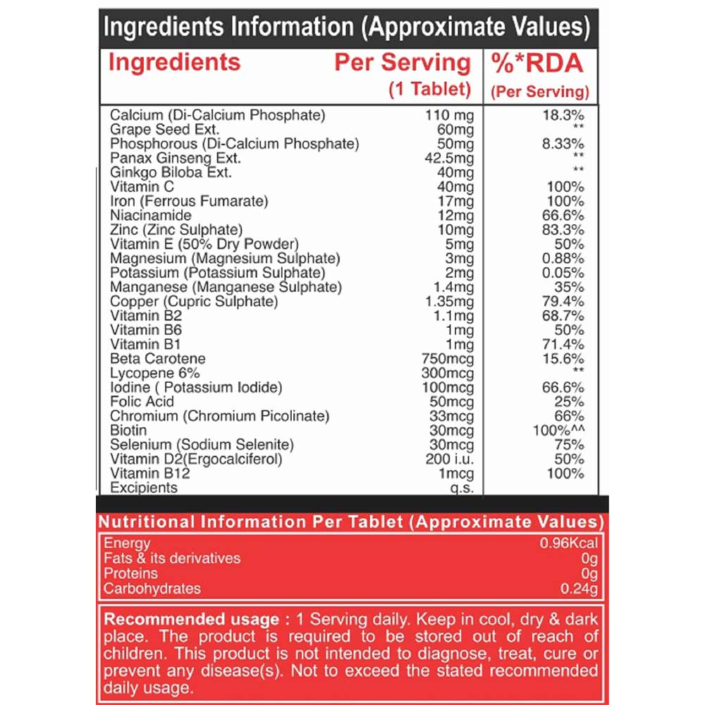 nutrition - Pharmgrade Healthy Living Multivitamin,  60 tablet(s)  Unflavoured