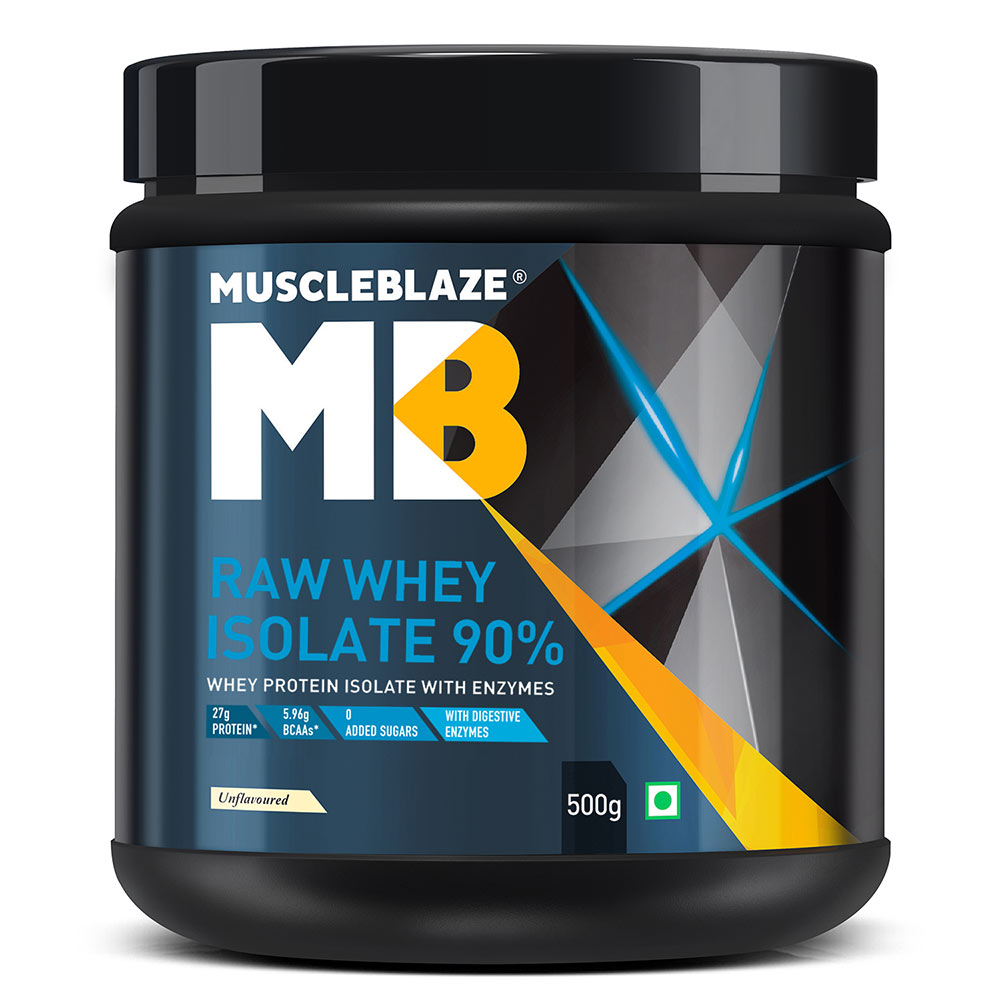 1 - MuscleBlaze Raw Whey Isolate,  1.1 lb  Unflavoured