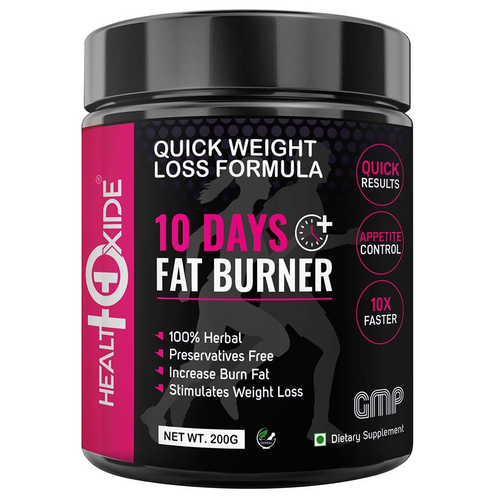 1 - Health Oxide 10 Days Fat Burner,  200 g  Unflavoured