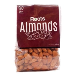 True Elements Roots Californian Jumbo Almonds,  Unflavoured  0.250 kg