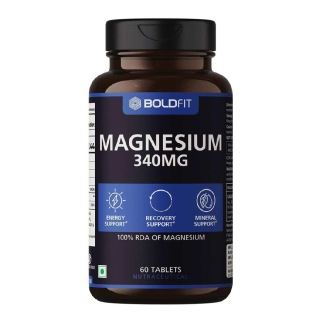 1 - Boldfit Magnesium 340 mg,  Unflavoured  60 tablet(s)
