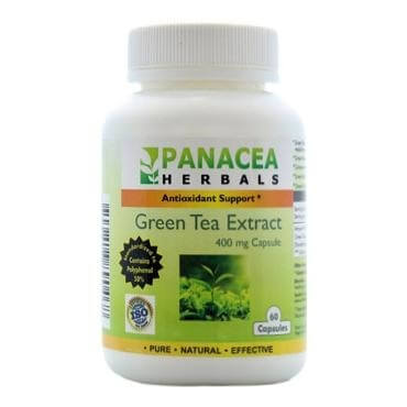Panacea Herbals Green Tea Extract (400 mg),  60 capsules  Natural
