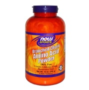 Now Branched Chain Amino Acid Powder,  0.75 lb  Unflavoured