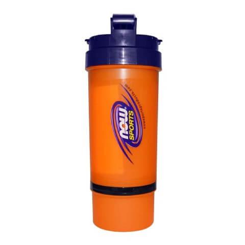 Now 3 in 1 Sports Shaker Bottle,  Orange & Blue  500 ml