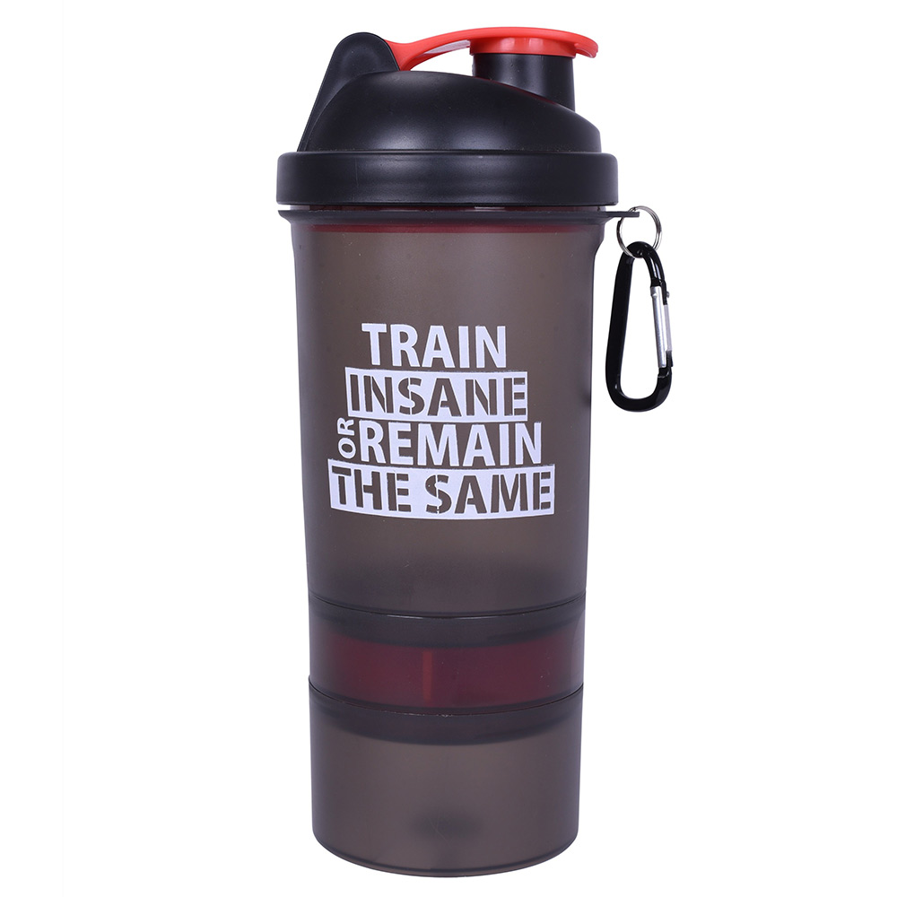 1 - GHC 3-Compartment Shaker Bottle,  Red  600 ml