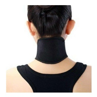 B Fit USA Neck Support,  Free Size  Black