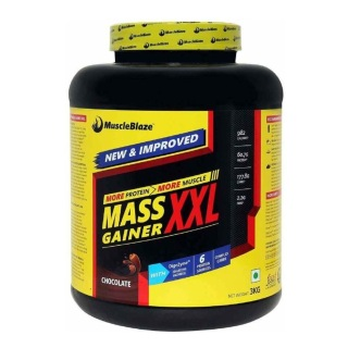 MuscleBlaze Mass Gainer XXL with Complex Carbs and Proteins in 3:1 ratio,  6.6 lb  (Chocolate)