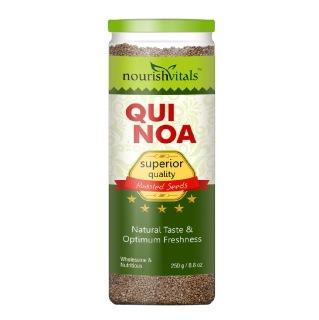 NourishVitals Roasted Quinoa Seeds,  0.250 kg  Natural