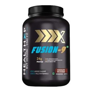 1 - HealthXP Fusion-9,  2.2 lb  Chocolate Milkshake